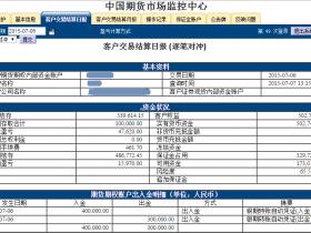 2015.07.07杭州点石股指期货配资客户保证金监控中心结算单随机展示