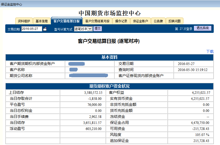 2016.05.27杭州点石股指期货配资客户保证金监控中心随机展示